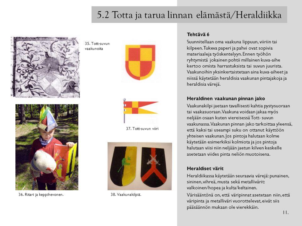 5.2 Totta ja tarua linnan elämästä/Heraldiikka