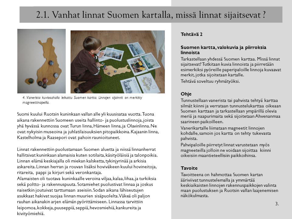 2.1. Vanhat linnat Suomen kartalla, missä linnat sijaitsevat