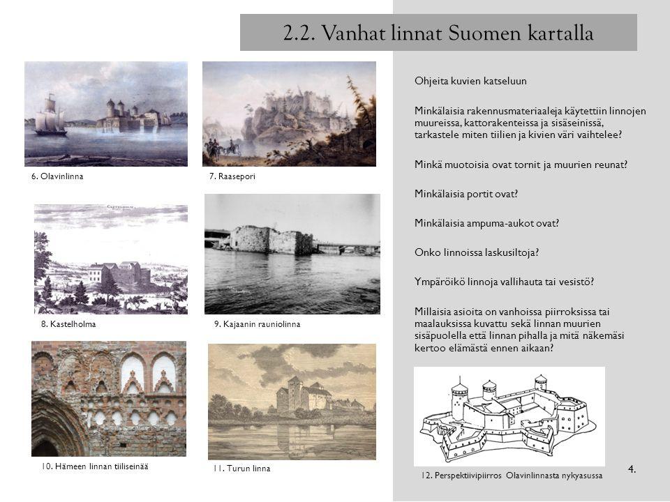 2.2. Vanhat linnat Suomen kartalla