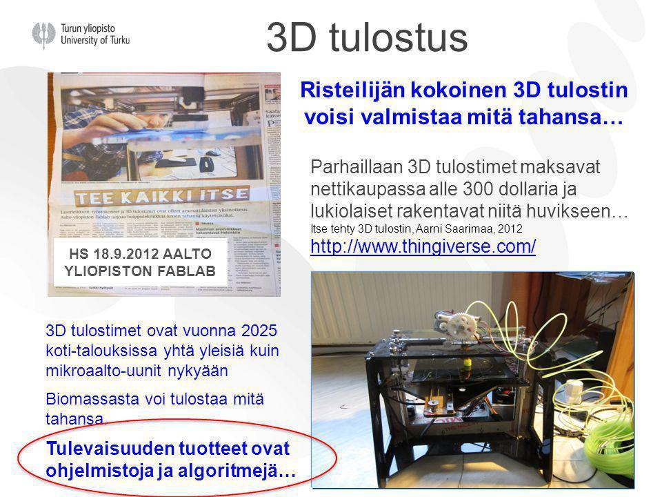 HS 18.9.2012 Aalto yliopiston Fablab