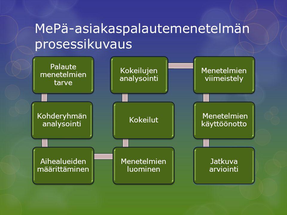 MePä-asiakaspalautemenetelmän prosessikuvaus