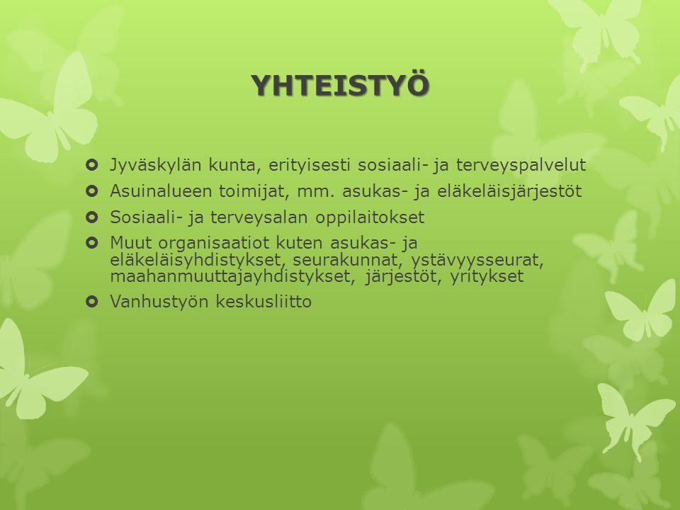 YHTEISTYÖ Jyväskylän kunta, erityisesti sosiaali- ja terveyspalvelut