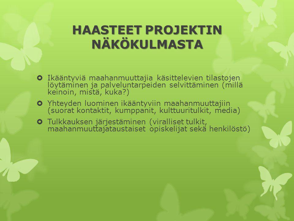HAASTEET PROJEKTIN NÄKÖKULMASTA