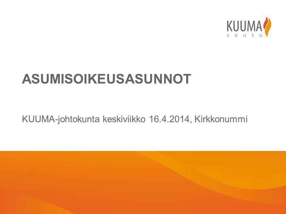 KUUMA-johtokunta keskiviikko 16.4.2014, Kirkkonummi