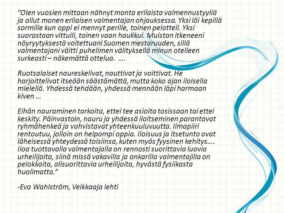 -Eva Wahlström, Veikkaaja lehti