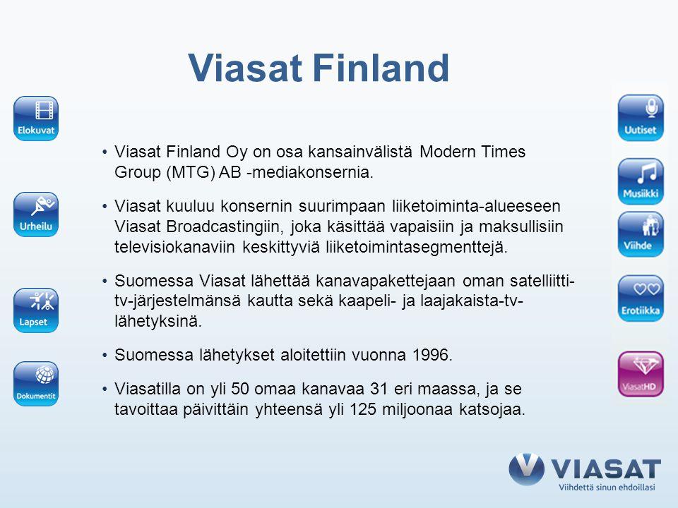 Viasat Finland Viasat Finland Oy on osa kansainvälistä Modern Times Group (MTG) AB -mediakonsernia.