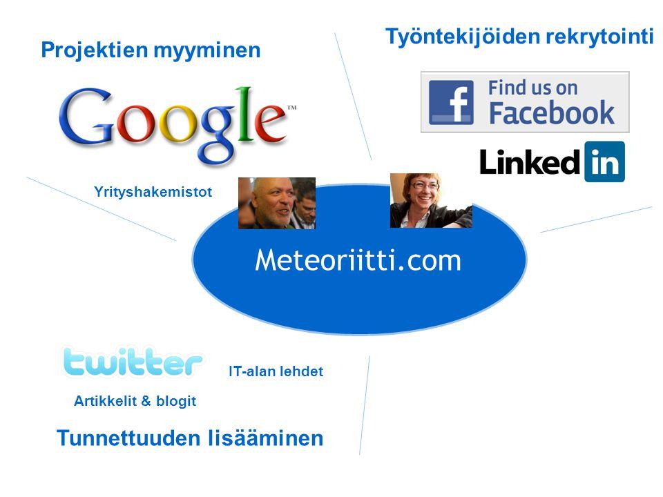 Meteoriitti.com Työntekijöiden rekrytointi Projektien myyminen