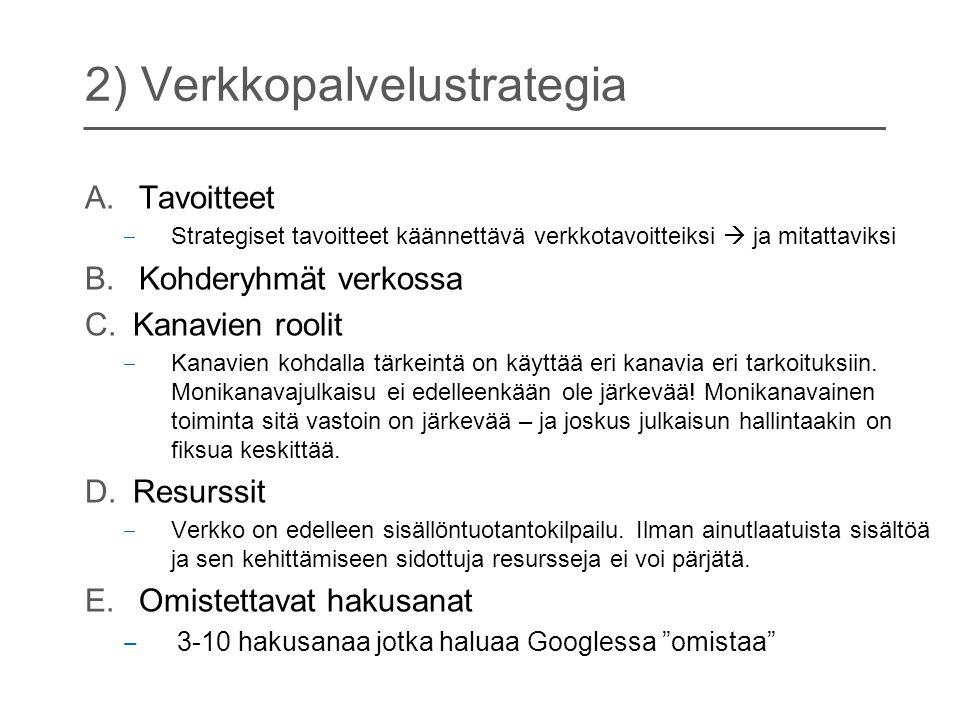 2) Verkkopalvelustrategia