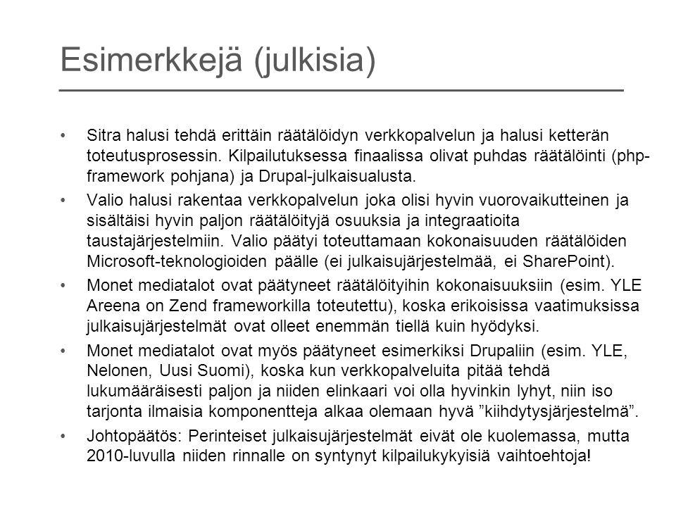 Esimerkkejä (julkisia)