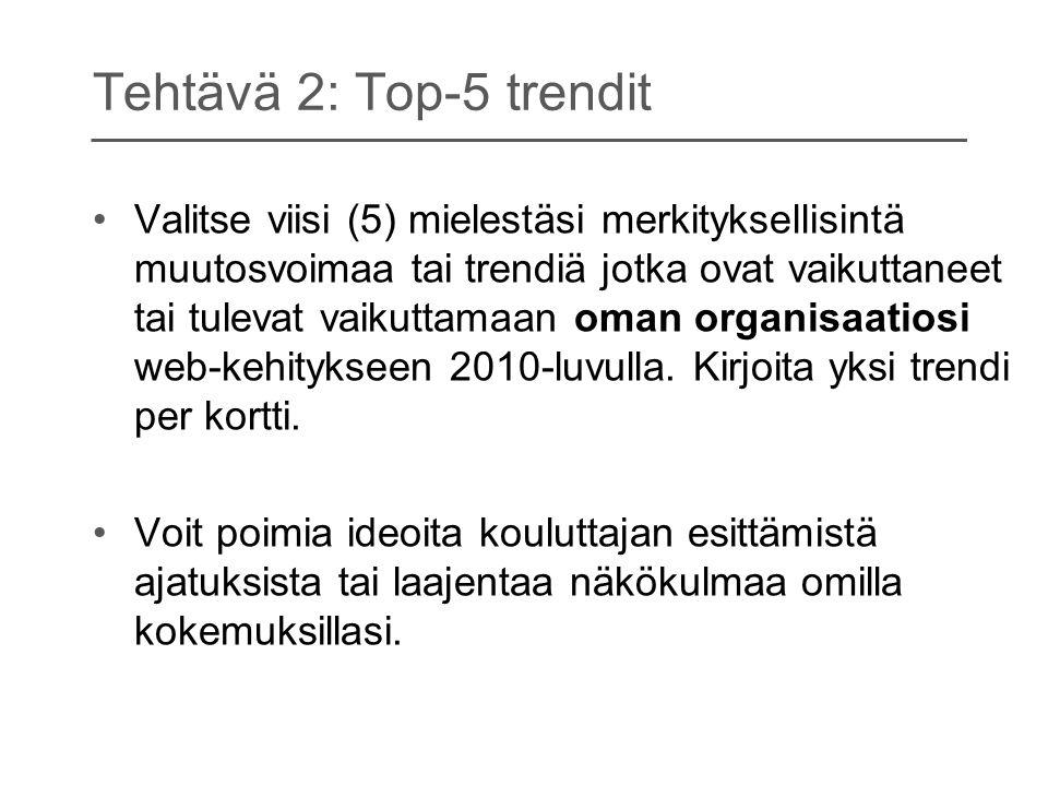 Tehtävä 2: Top-5 trendit