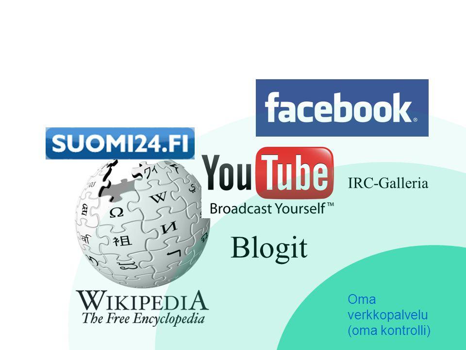 Blogit IRC-Galleria Oma verkkopalvelu (oma kontrolli)