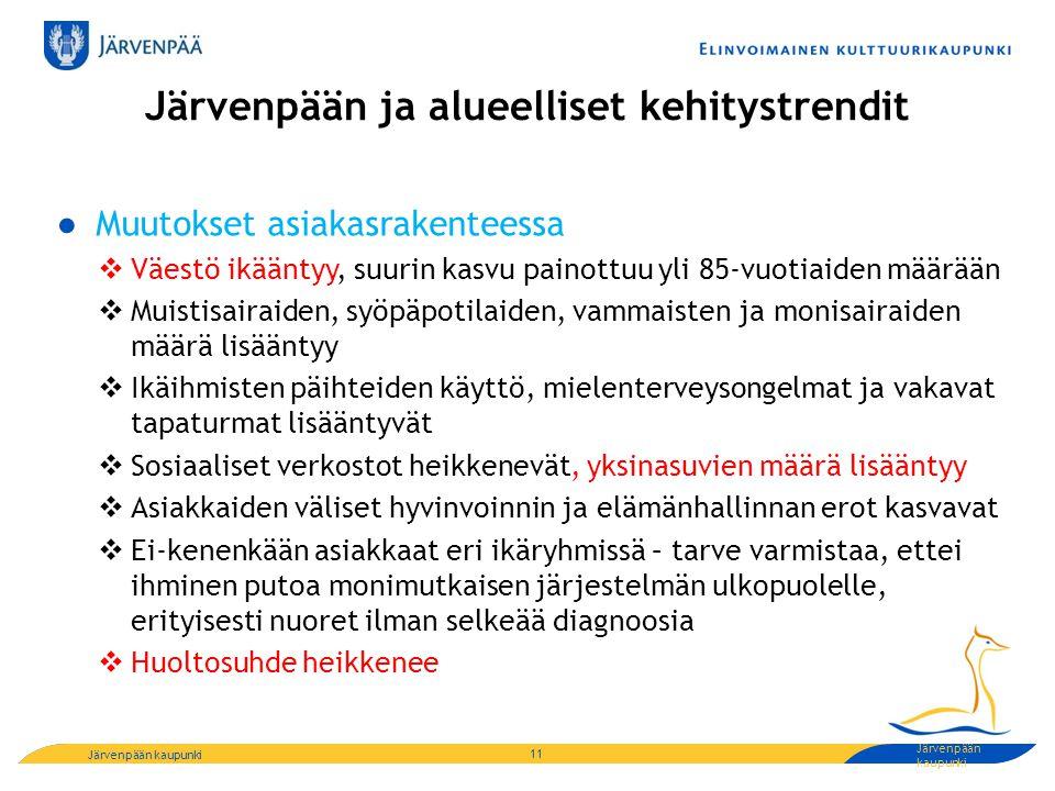 Järvenpään ja alueelliset kehitystrendit