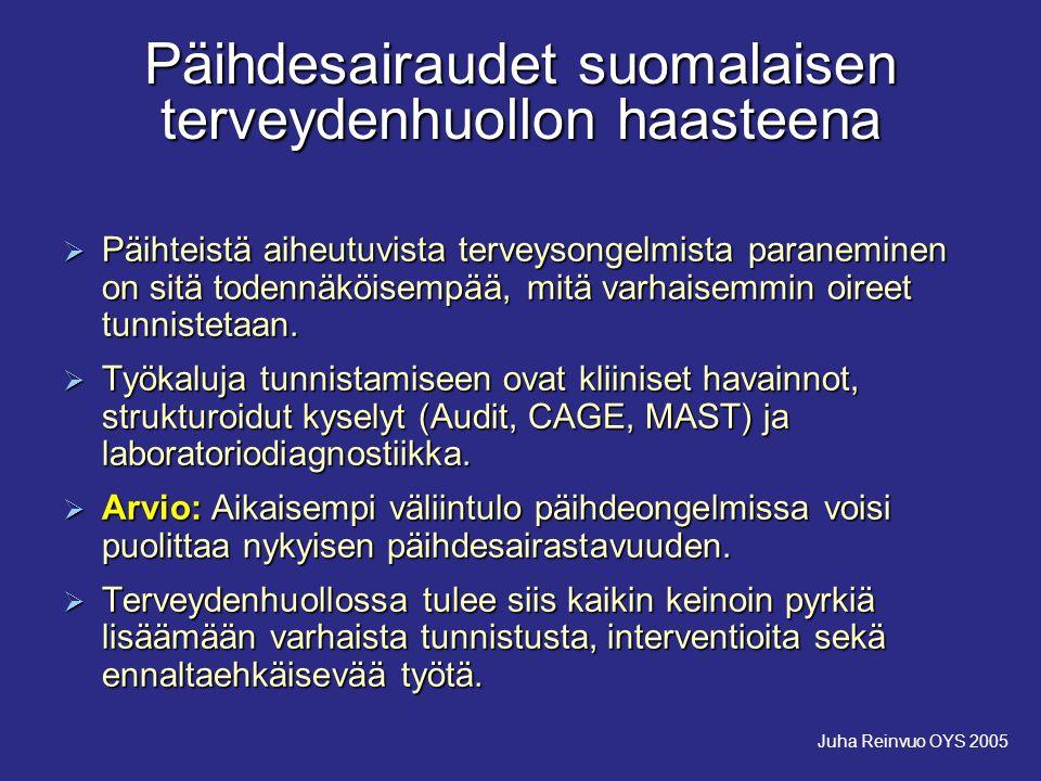 Päihdesairaudet suomalaisen terveydenhuollon haasteena