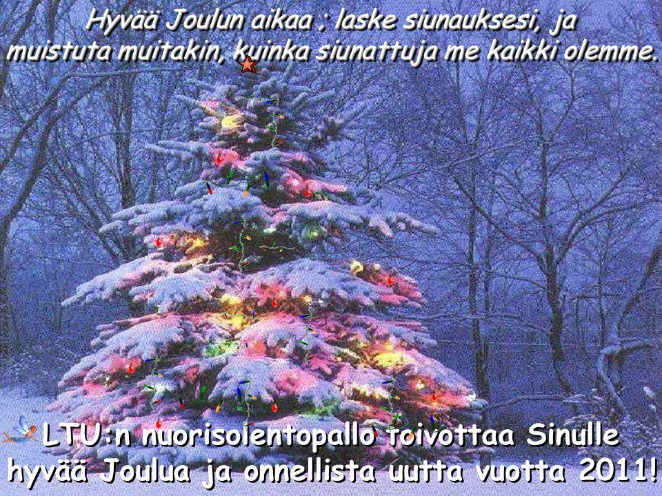Hyvää Joulun aikaa ; laske siunauksesi, ja