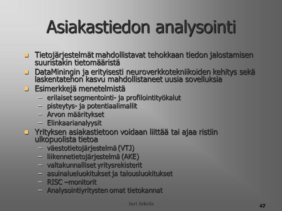 Asiakastiedon analysointi