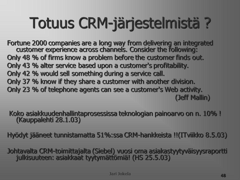 Totuus CRM-järjestelmistä