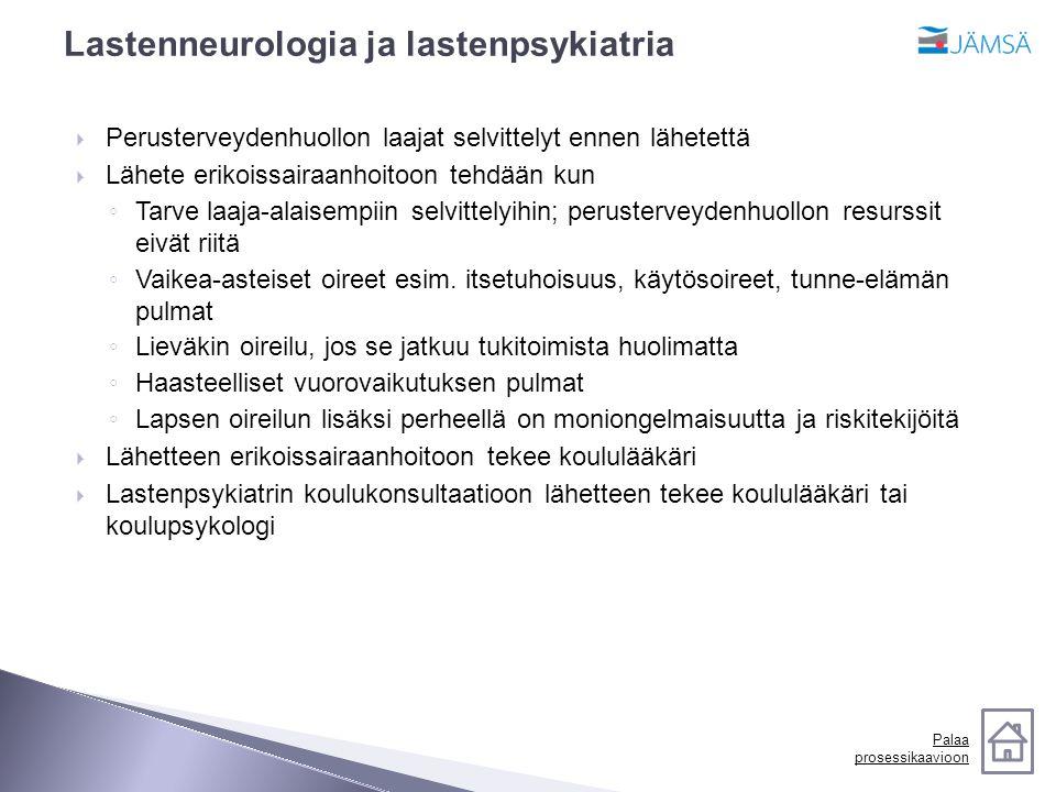 Lastenneurologia ja lastenpsykiatria