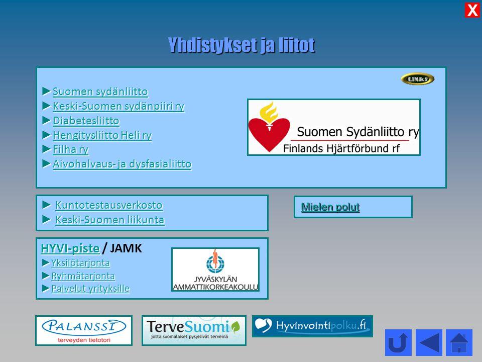 Yhdistykset ja liitot X HYVI-piste / JAMK Suomen sydänliitto