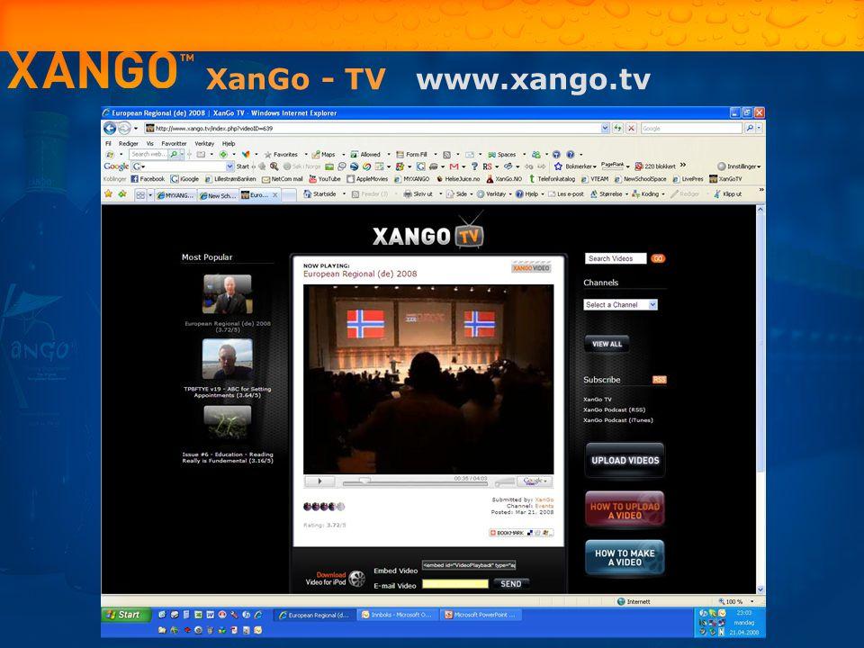XanGo - TV www.xango.tv 16