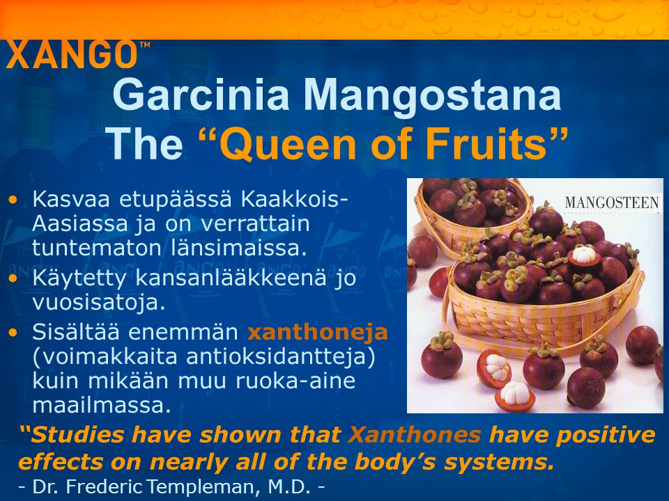 Garcinia Mangostana The Queen of Fruits