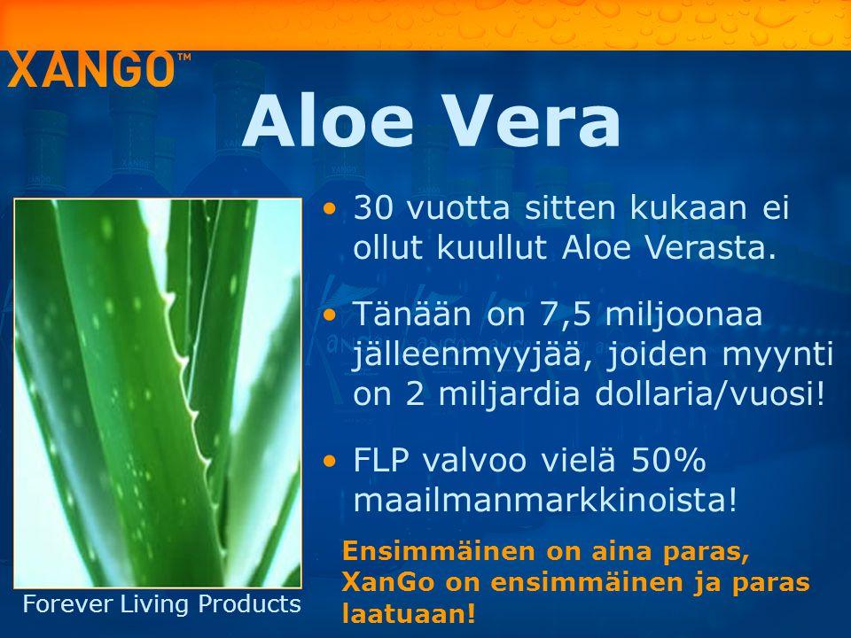 Aloe Vera 30 vuotta sitten kukaan ei ollut kuullut Aloe Verasta.
