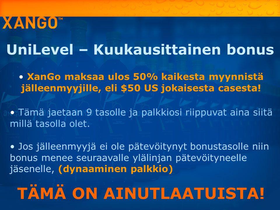 UniLevel – Kuukausittainen bonus