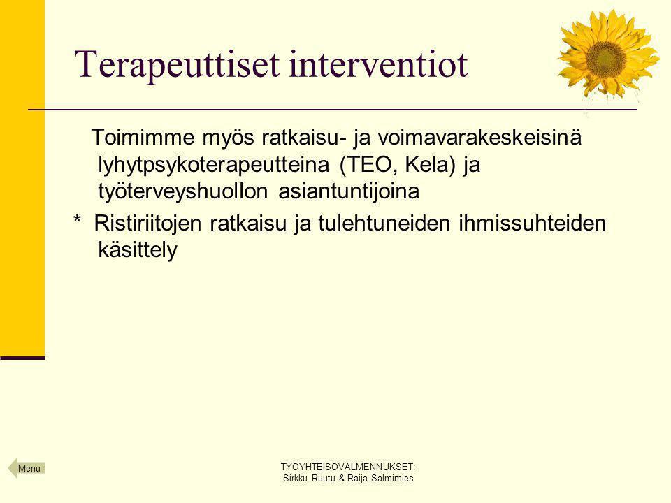Terapeuttiset interventiot