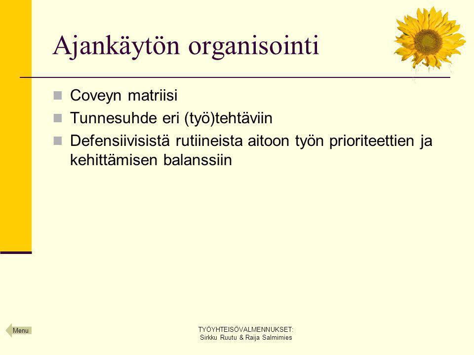 Ajankäytön organisointi
