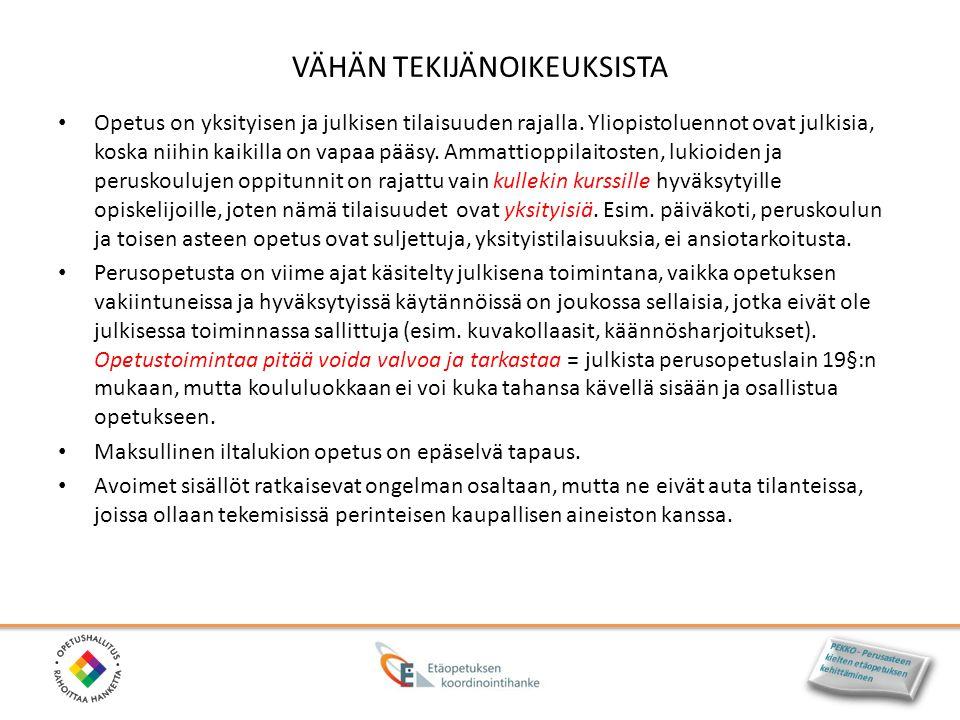 VÄHÄN TEKIJÄNOIKEUKSISTA