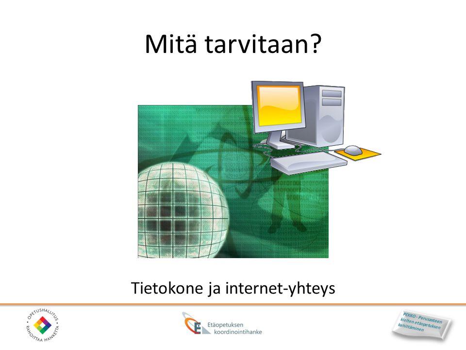 Tietokone ja internet-yhteys