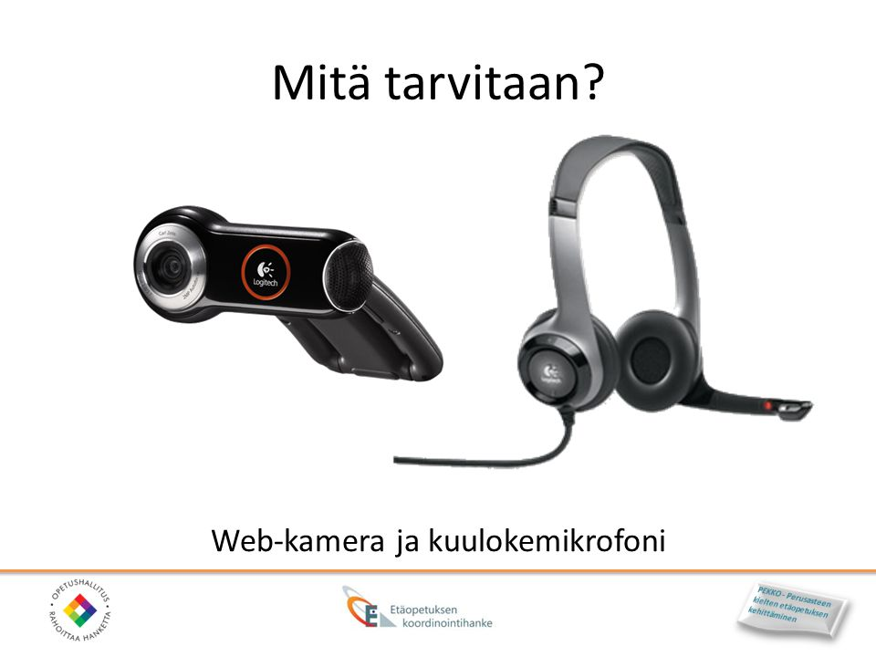 Web-kamera ja kuulokemikrofoni