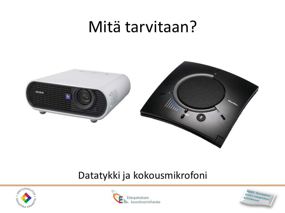 Datatykki ja kokousmikrofoni