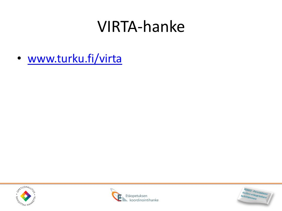 VIRTA-hanke www.turku.fi/virta