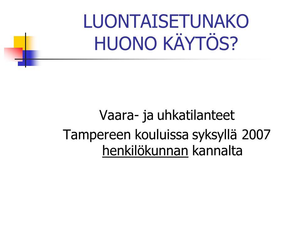 LUONTAISETUNAKO HUONO KÄYTÖS