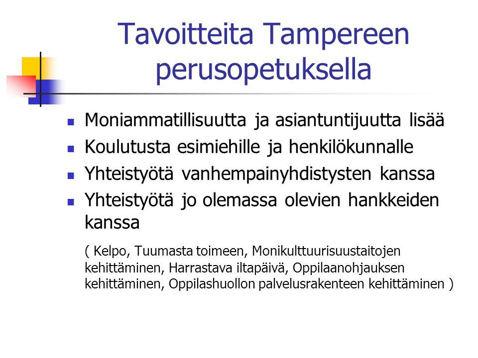Tavoitteita Tampereen perusopetuksella