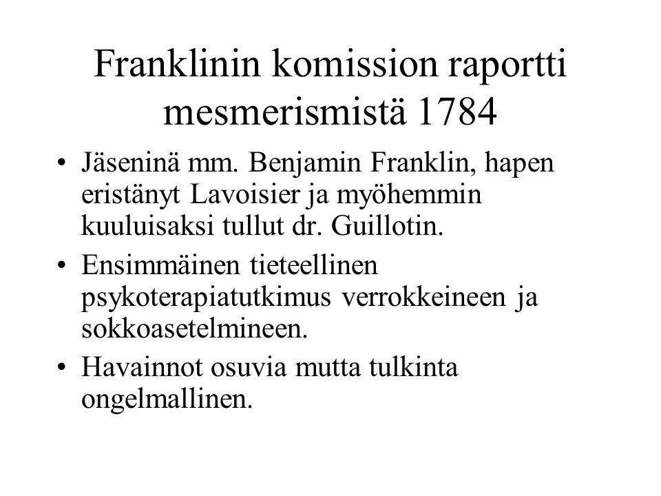 Franklinin komission raportti mesmerismistä 1784