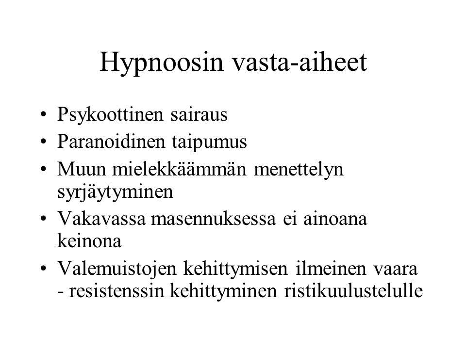Hypnoosin vasta-aiheet