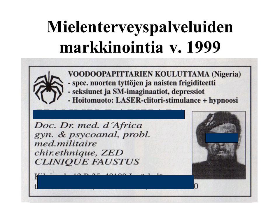 Mielenterveyspalveluiden markkinointia v. 1999