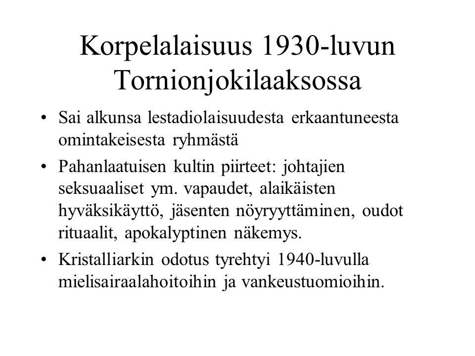 Korpelalaisuus 1930-luvun Tornionjokilaaksossa