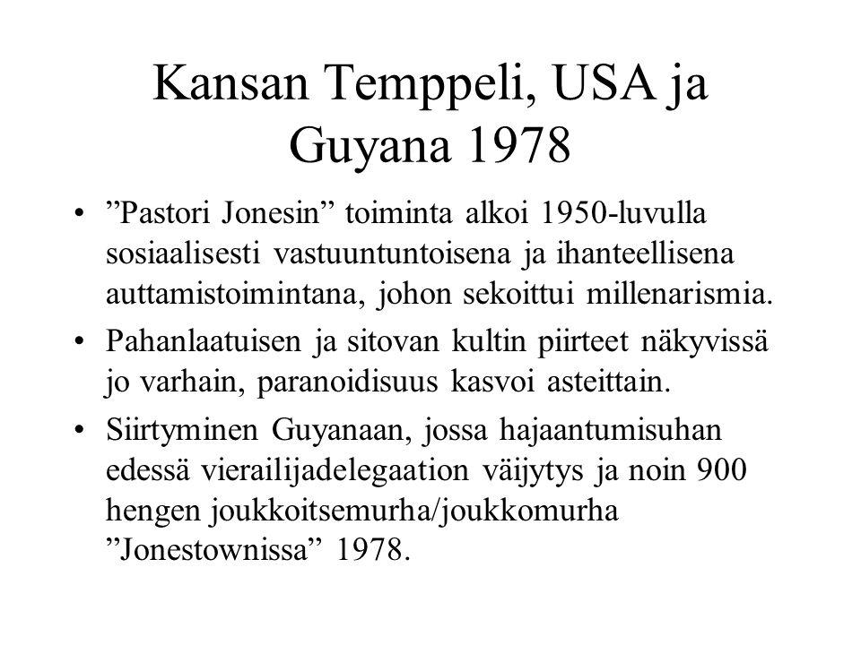 Kansan Temppeli, USA ja Guyana 1978