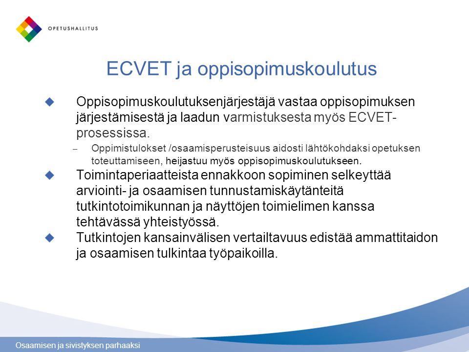 ECVET ja oppisopimuskoulutus