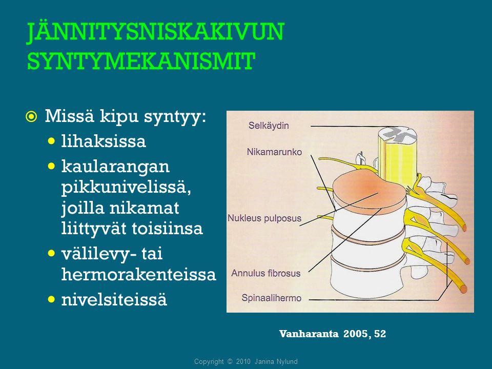 JÄNNITYSNISKAKIVUN SYNTYMEKANISMIT