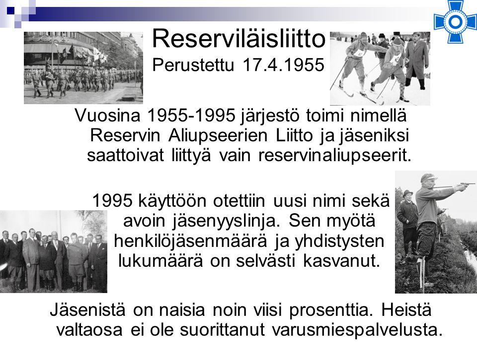 Reserviläisliitto Perustettu 17.4.1955