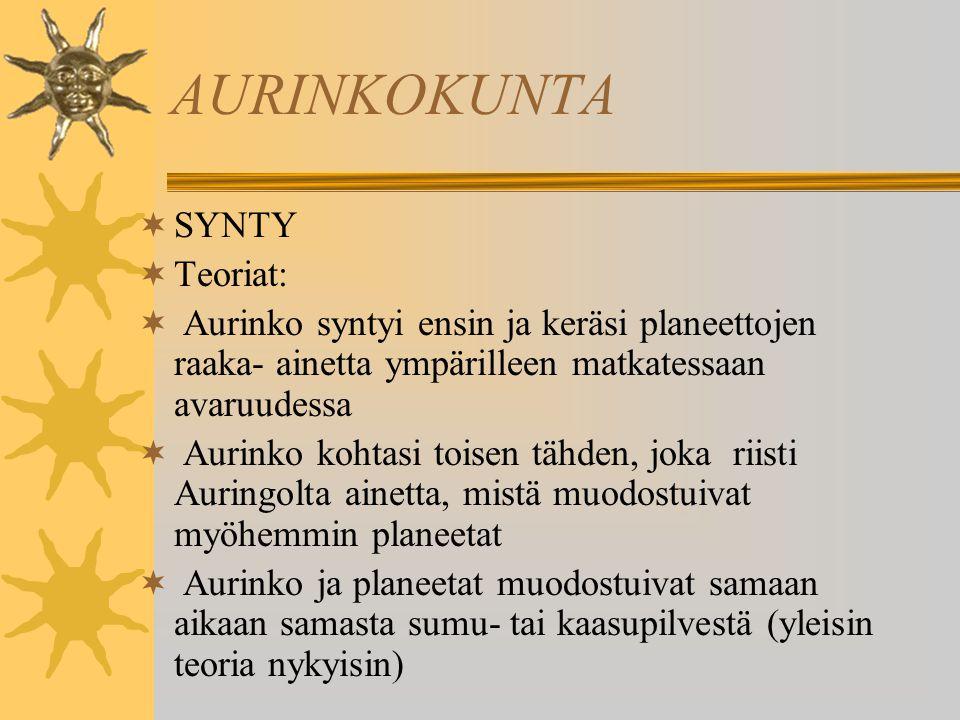 AURINKOKUNTA SYNTY Teoriat: