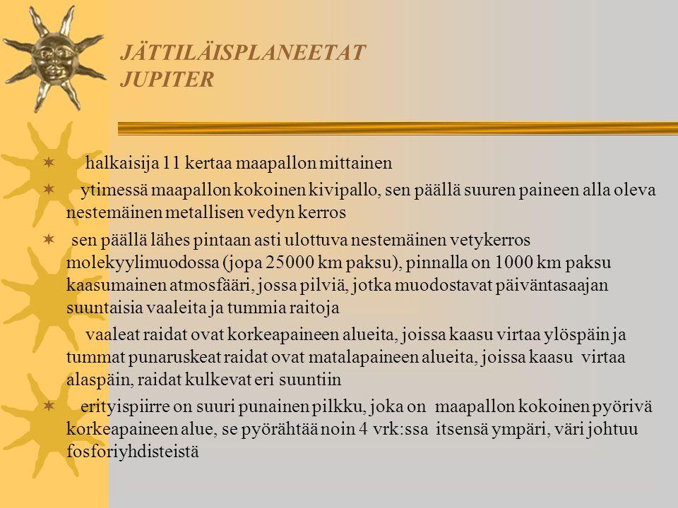 JÄTTILÄISPLANEETAT JUPITER