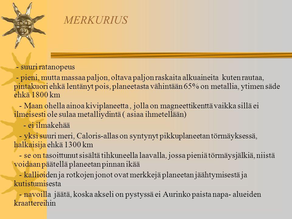 MERKURIUS - suuri ratanopeus