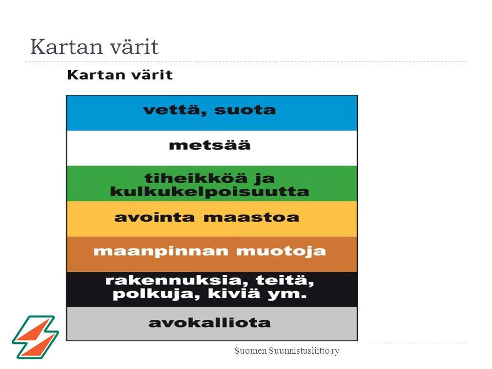 Kartan värit Suomen Suunnistusliitto ry