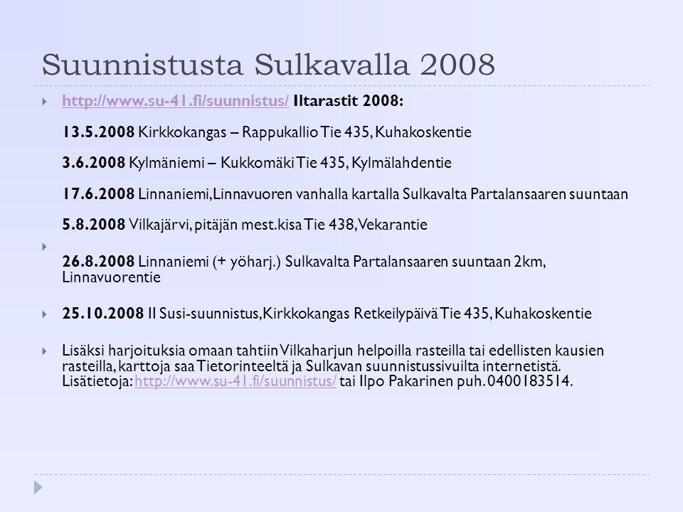 Suunnistusta Sulkavalla 2008