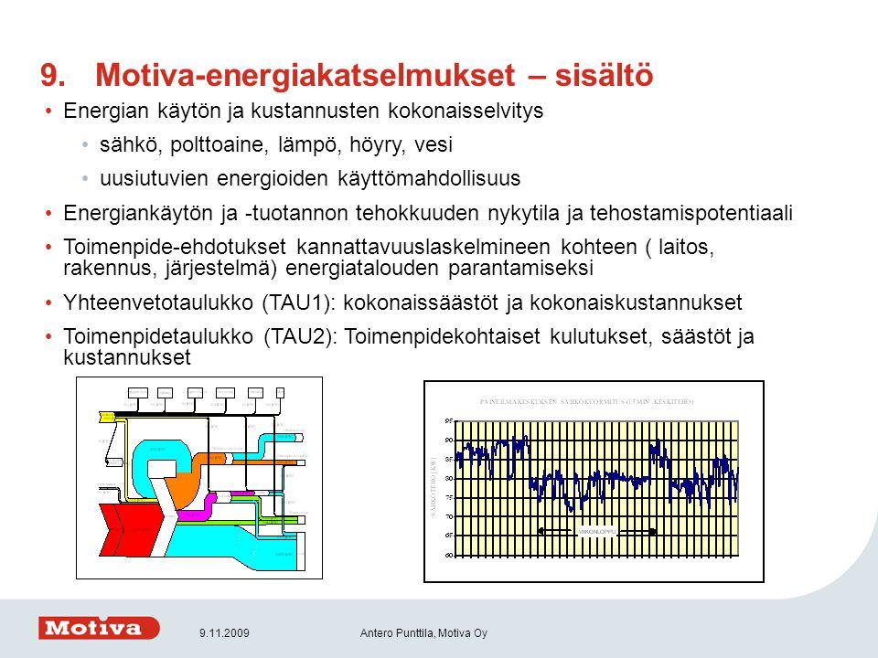 Motiva-energiakatselmukset – sisältö
