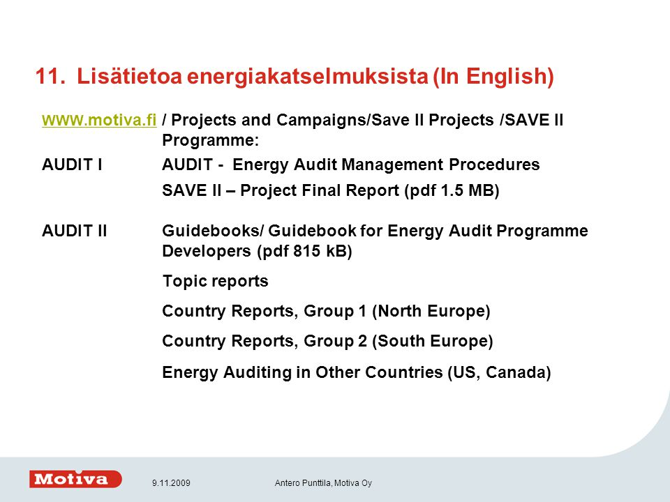 Lisätietoa energiakatselmuksista (In English)